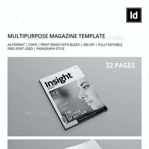 Black & White Multipurpose Magazine