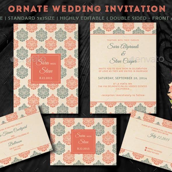 Ornate Wedding Invitation