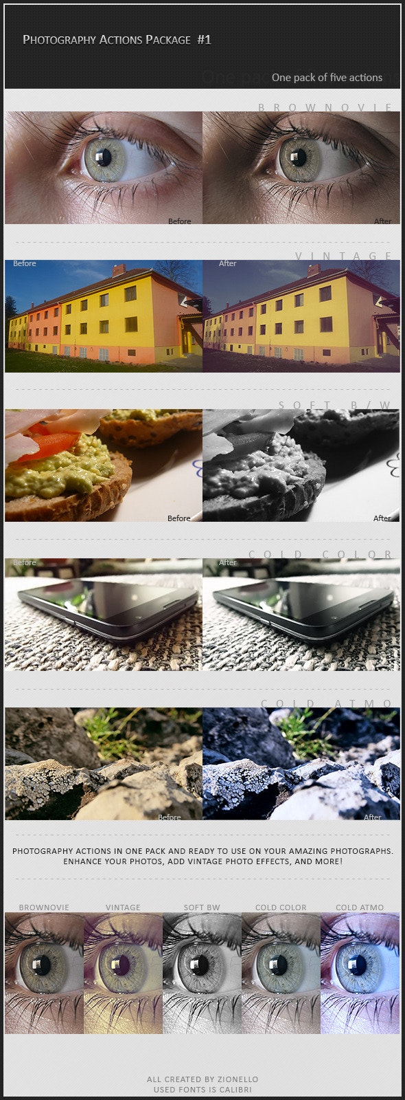 Photography Action Package #1 - Photo Effects Actions