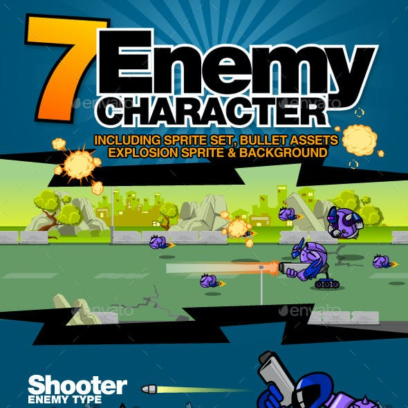 7 Enemy Character Set