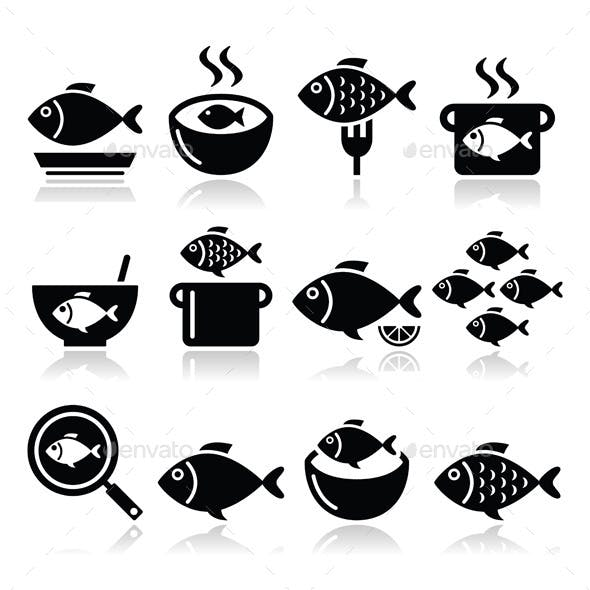Fish Meals Icons