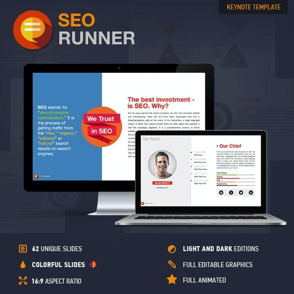 SEO Runner Keynote Presentation Template