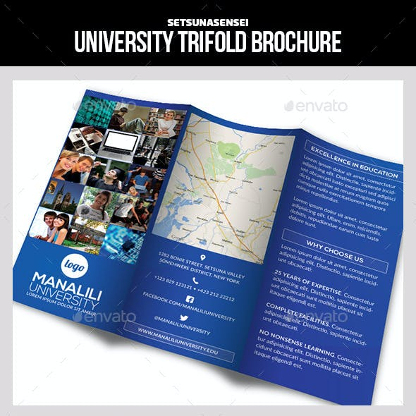University Trifold Brochure