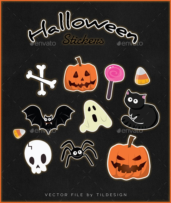 Halloween Stickers - Monsters Characters