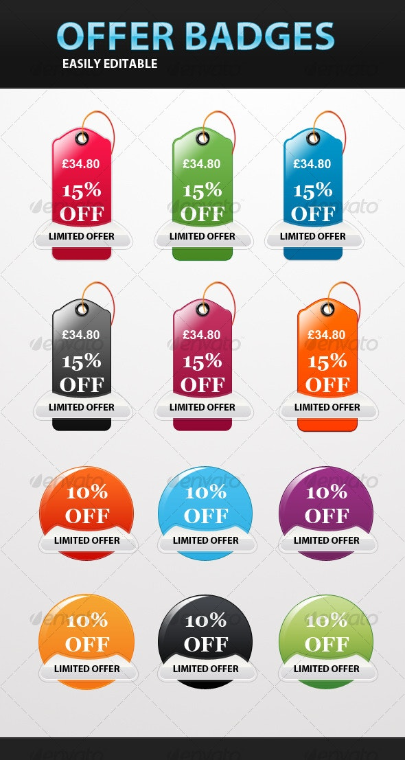 Special Offer Badges and Tags - Web Elements