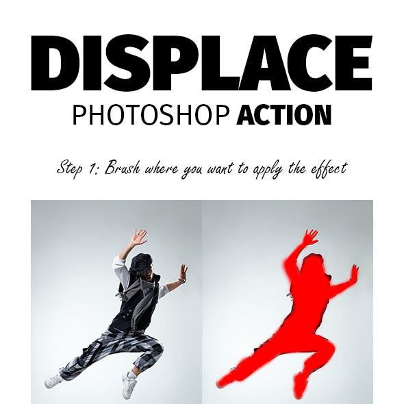 Displace Photoshop Action
