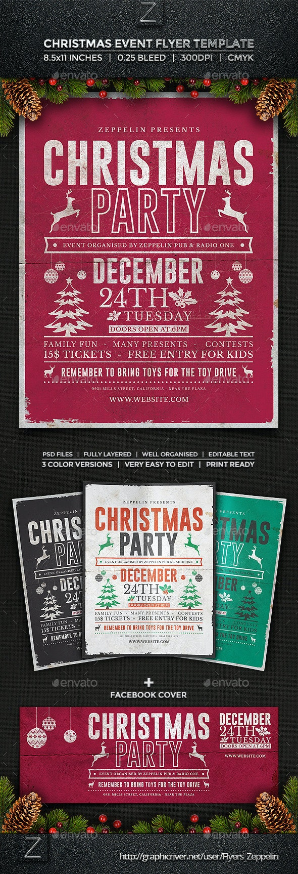 Christmas Flyer Template Vol.2 - Holidays Events