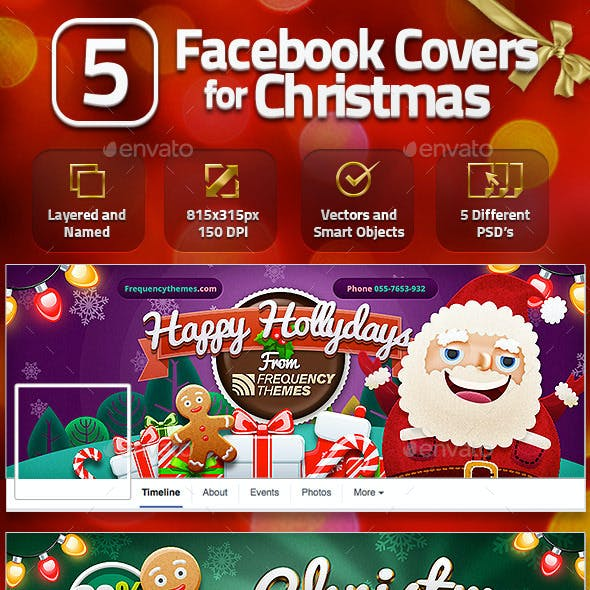 5 Facebook Covers for Christmas
