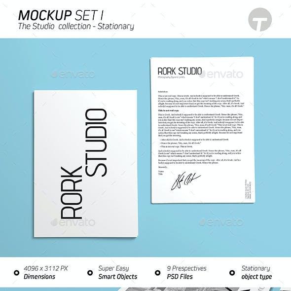 Stationary Mockup (Studios Collection) - Set 1