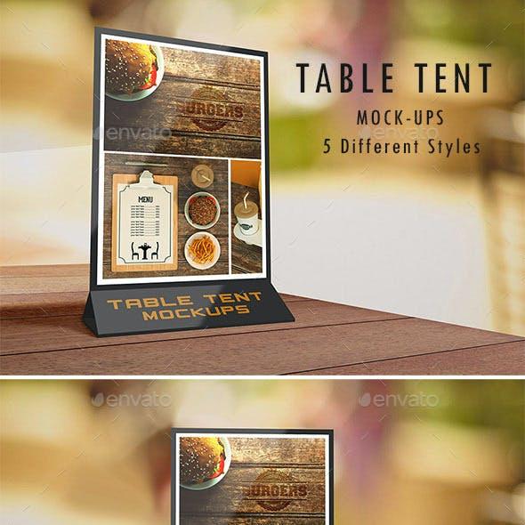 Table Tent Mock-Ups