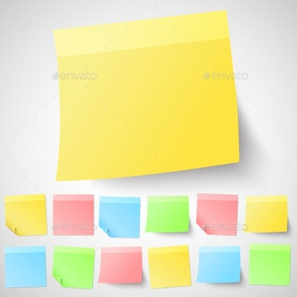 Adhesive Sticky Notes