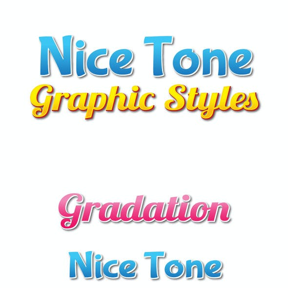 Nice Tone Graphic Styles for Ai