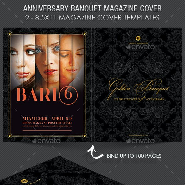 Anniversary Banquet Magazine Cover Template