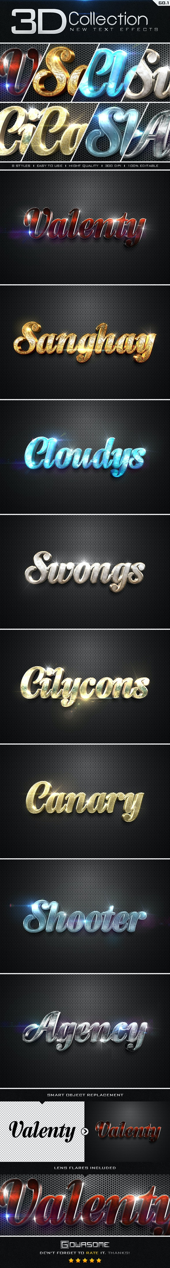 New 3D Collection Text Effects GO.1 - Text Effects Styles