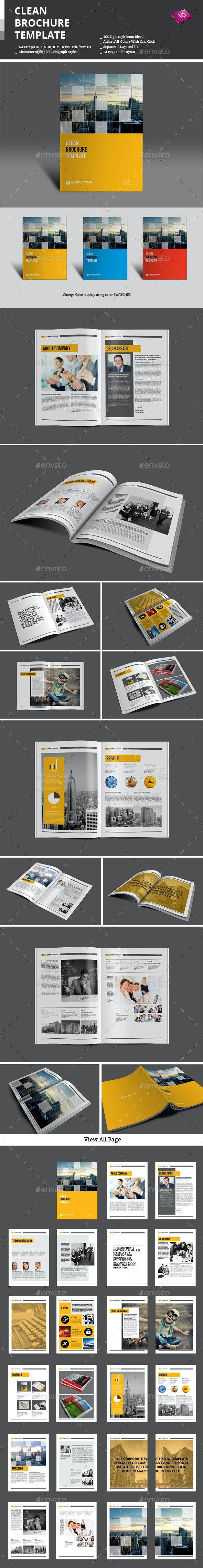 Clean Brochure Template - Corporate Brochures