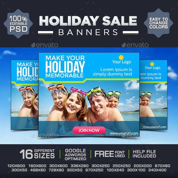 Vacation Banner Design Set