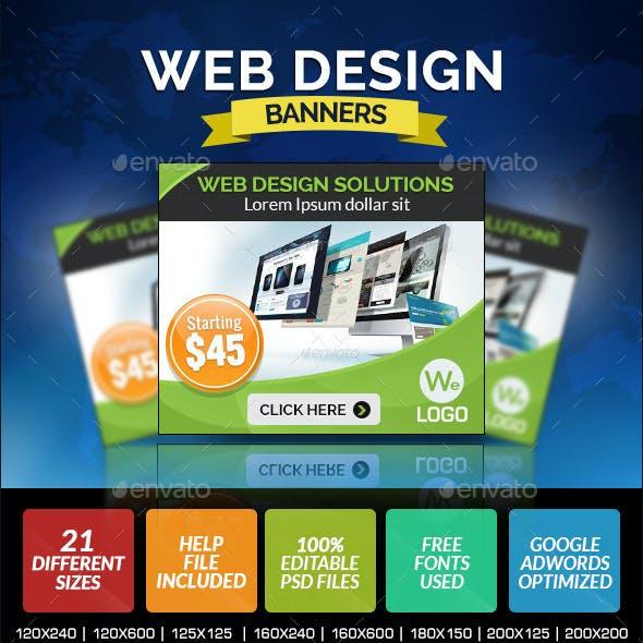 Web Design Company Banner Design
