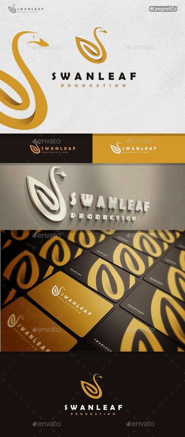 Swan Leaf Logo - Animals Logo Templates
