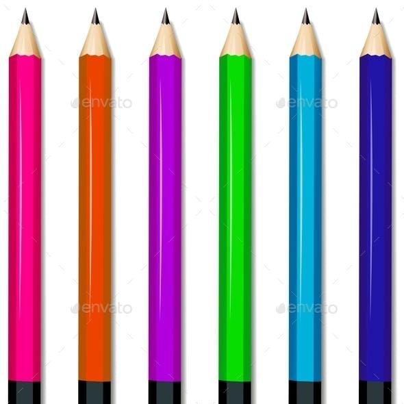 Six Colorful Pencils