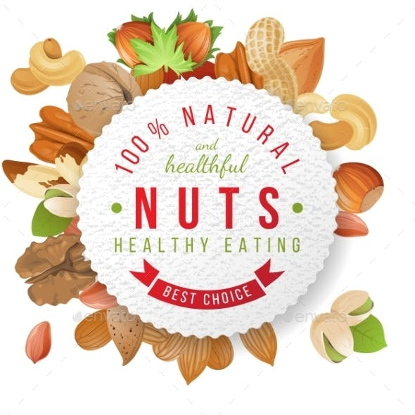 Nuts Label with Type Design