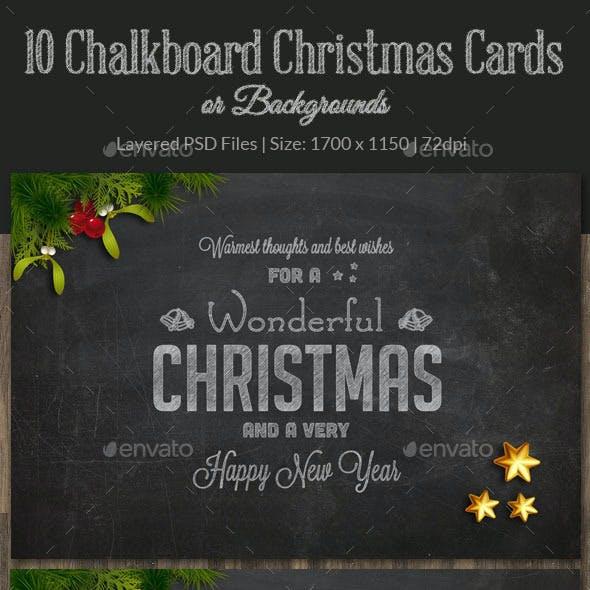 10 Christmas Chalkboard Cards