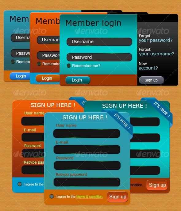 Modern Login & Signup form - Forms Web Elements