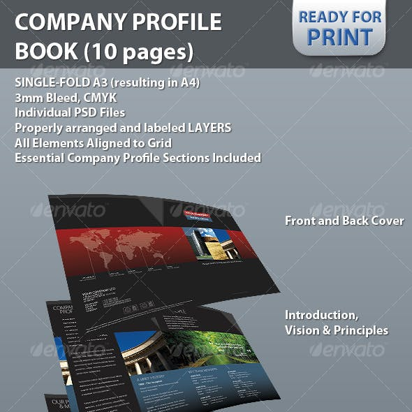Professional Company Profile Brochure (10 pages)