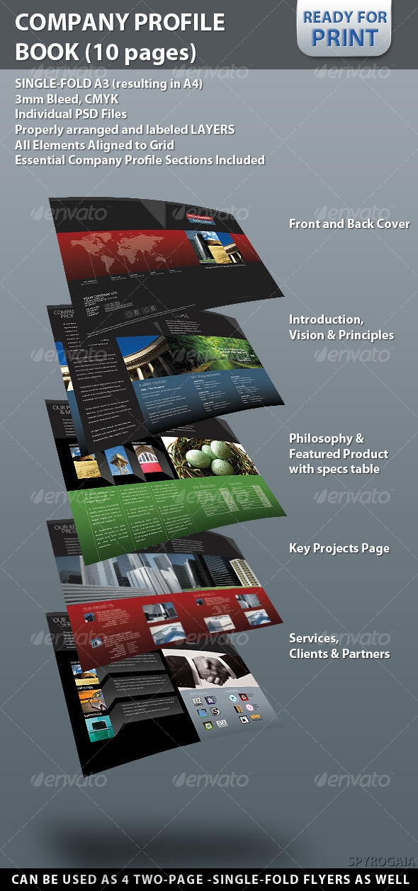 Professional Company Profile Brochure (10 pages) - Corporate Brochures