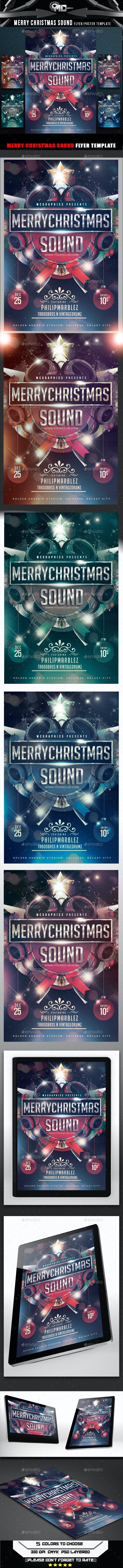 Merry Christmas Sound Flyer Template - Events Flyers