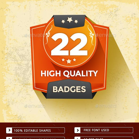22 High Quality Badges