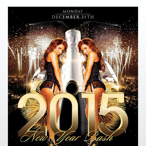 2015 New Year Party Flyer Template