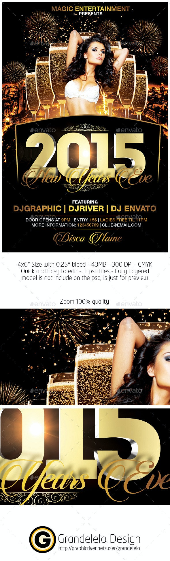 2015 New Years Eve Flyer - Holidays Events