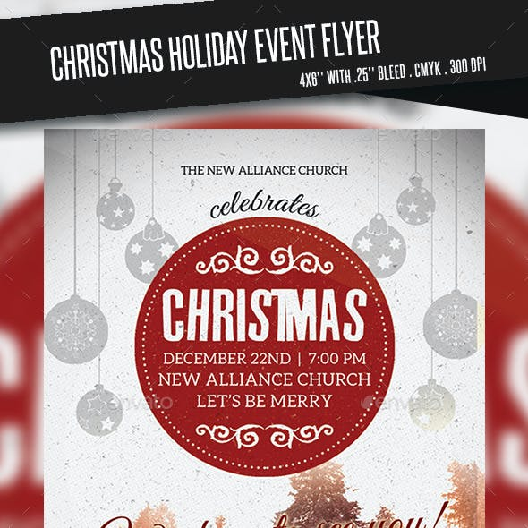 Christmas Holiday Event Flyer