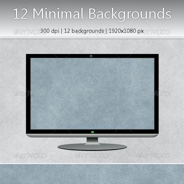 12 Subtle Minimal Backgrounds (JPG + Flat PNG)