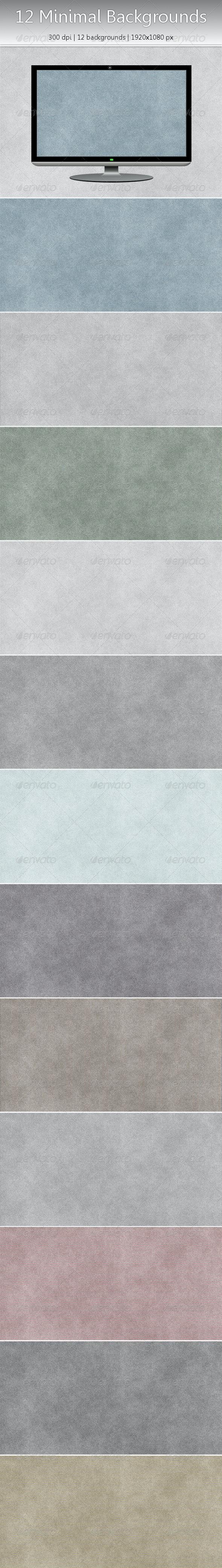 12 Subtle Minimal Backgrounds (JPG + Flat PNG) - Miscellaneous Backgrounds