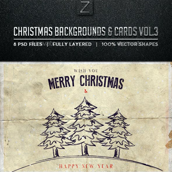 Christmas Backgrounds and Cards Vol.3