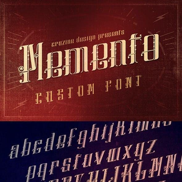 Memento Custom Font