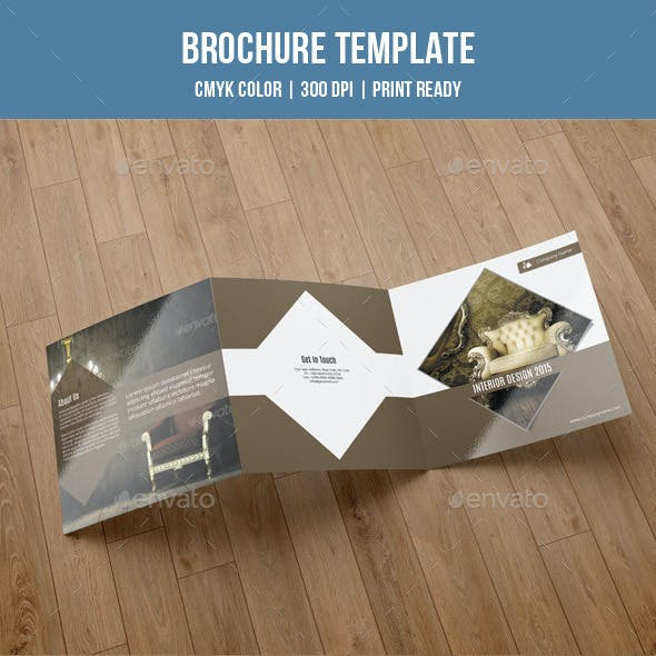 Square Trifold For Interior Design-V49
