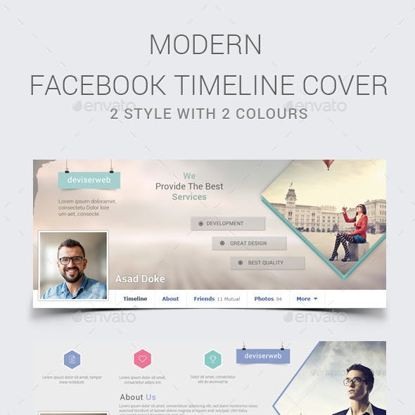 Modern Facebook Timeline Cover