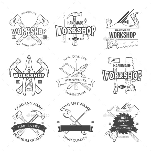 Vintage Carpentry Tools Labels