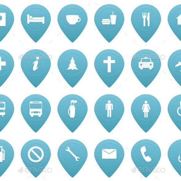 24 Map Pins