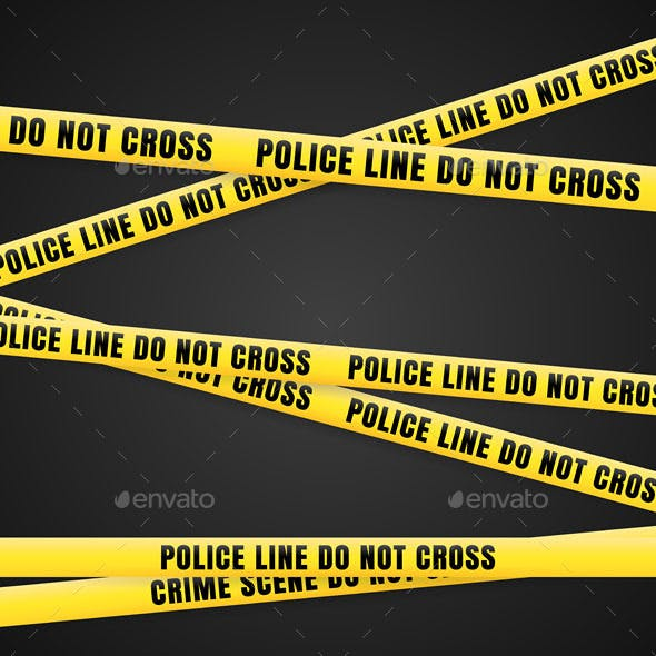 Criminal Scene Yellow Line