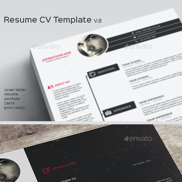 Resume CV Template V.8