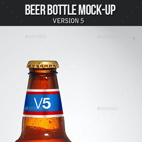 Beer Bottle Mockup V5