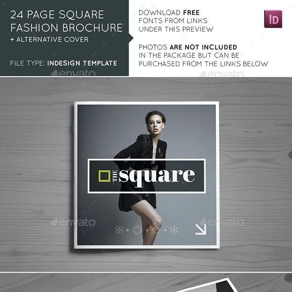 24 Page Square Fashion Brochure