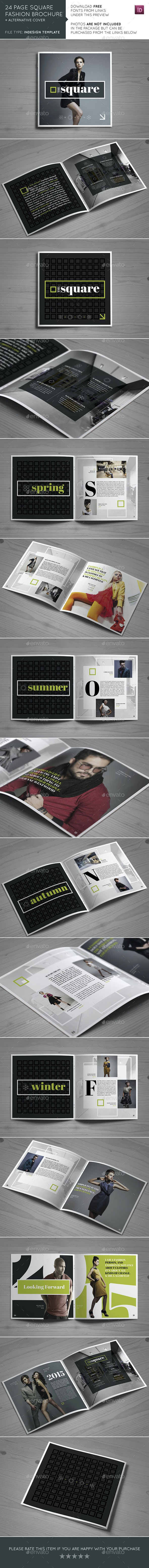 24 Page Square Fashion Brochure - Brochures Print Templates