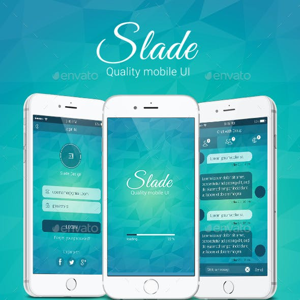 Slade Quality Mobile UI Pack