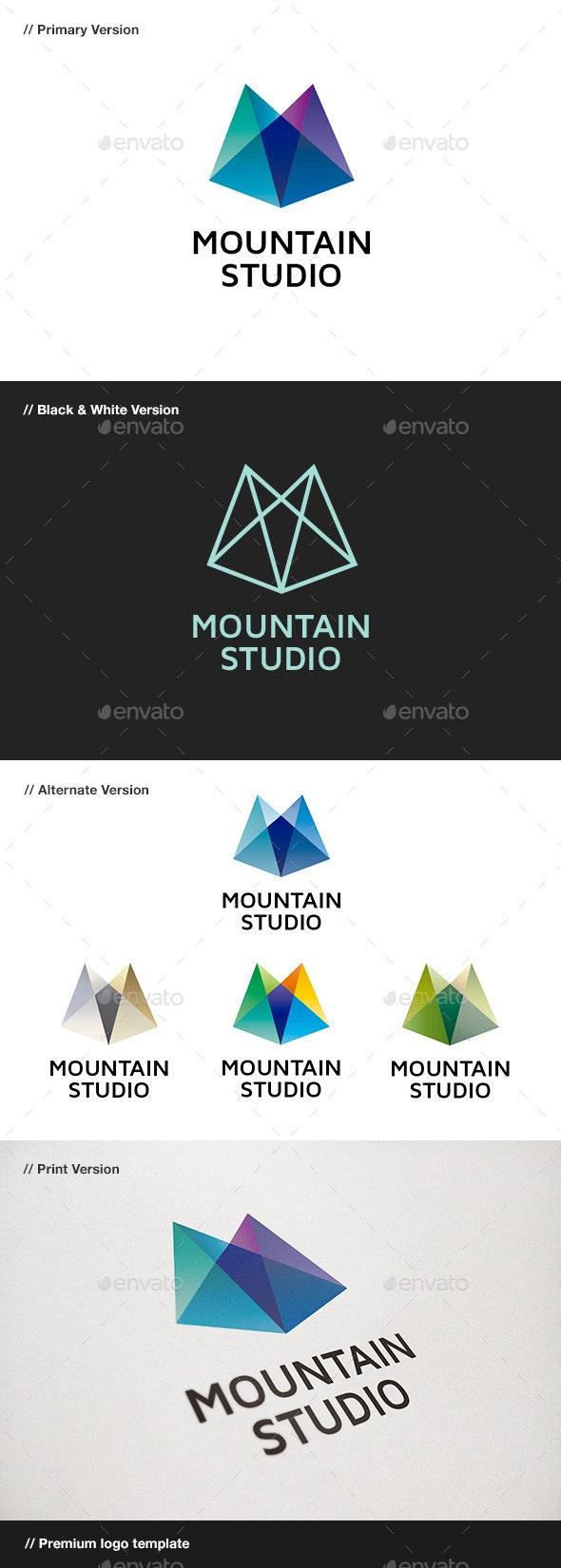 Mountain Studio - Abstract Logo - Nature Logo Templates