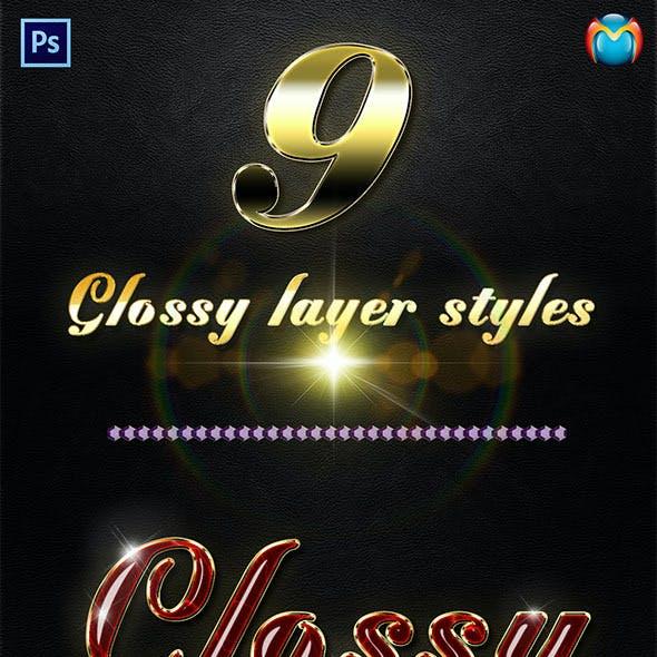 Glossy Layer Styles V.3
