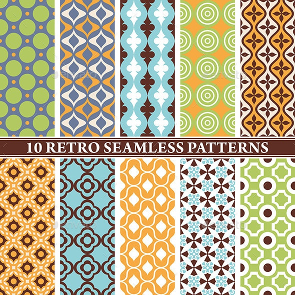 Retro Seamless Patterns - Patterns Decorative